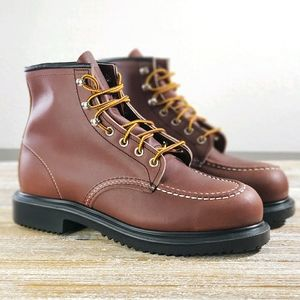 Red Wing Shoes Men's Brown Leather Boots 8249 New